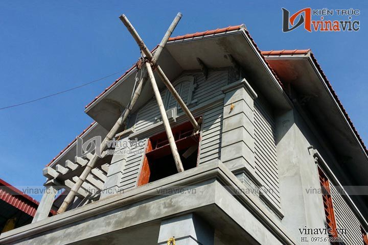 Xây nhà biệt thự trọn gói công trình biệt thự 2 tầng TCBT1449