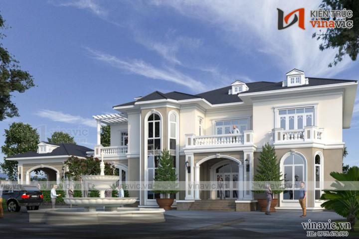 Biệt thự 2 tầng tân cổ điển 250m2/1 sàn đẳng cấp ở đảo Phú Quốc LDDT2003