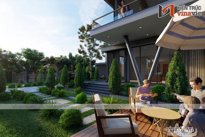 Biệt thự hiện đại có hồ bơi kiểu singapore ở Quảng Bình