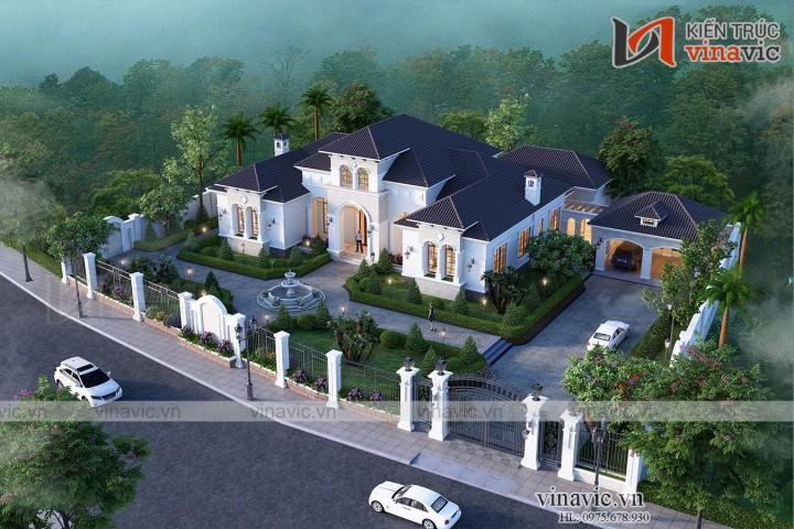 Dinh thự 1 tầng 450m2 phong cách địa trung hải của doanh nhân BT2005