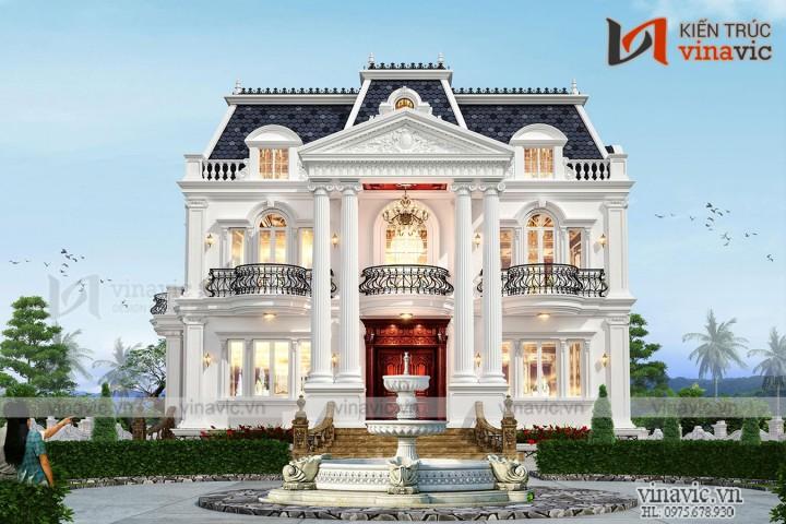 Dinh thự cổ điển 3 tầng 500m2 ở Đông Anh- Hà Nội LDDT2004