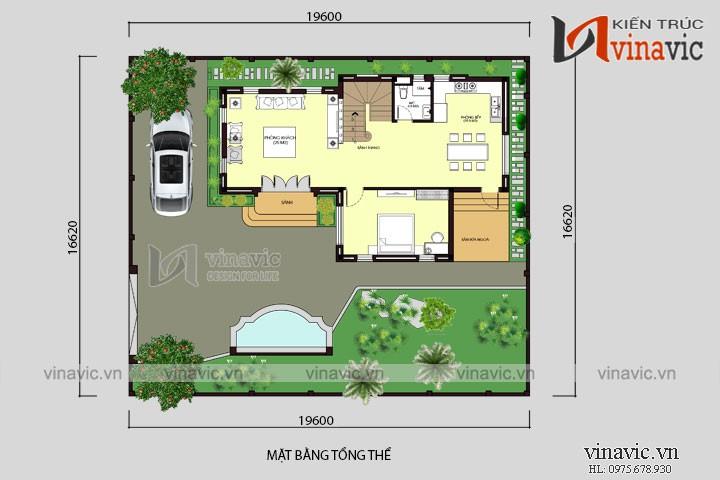 Mẫu nhà 2 tầng diện tích rộng 9m sâu 14 m 4 phòng ngủ hiện đại BT1693