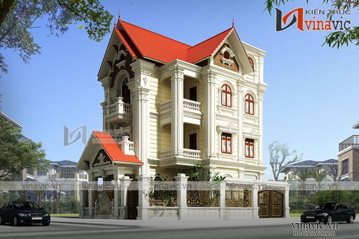 Mẫu thiết kế cải tạo biệt thự cổ điển 3 tầng BT1678