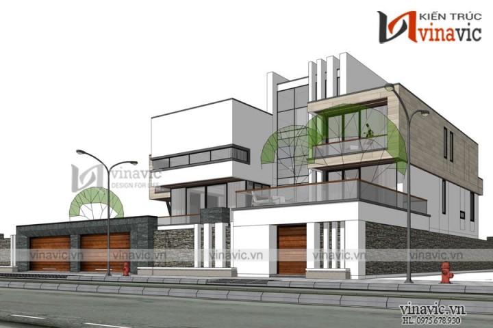Biệt thự Singapore phong cách hiện đại ở Đồng Hới- Quảng Bình BT1836