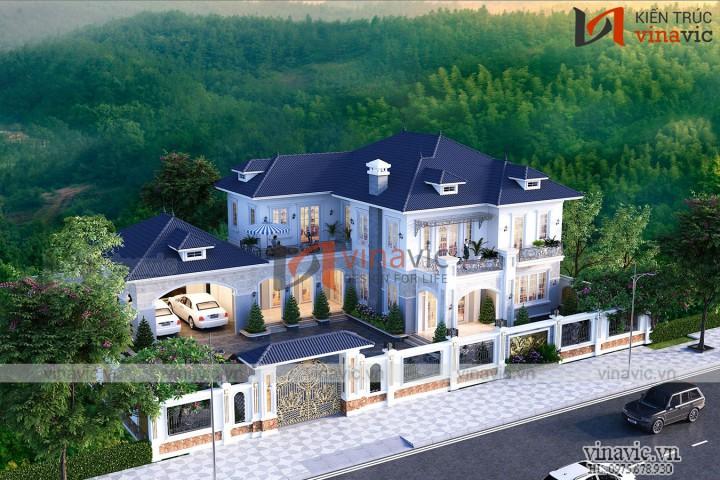 Mẫu Nhà đẹp 2 tầng phong cách tân cổ điển BT2007