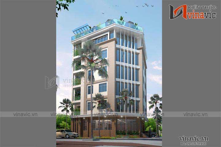 Khách sạn văn phòng phong cách hiện đại KSVP01