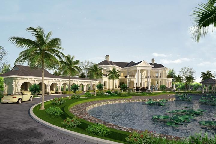 Thiết kế lâu đài dinh thự sang trọng trên khuôn viên đất rộng LDDT05