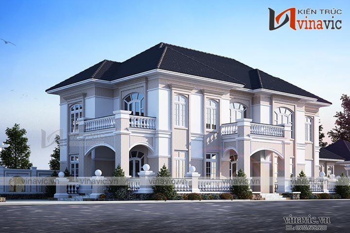 Thiết kế nhà biệt thự đẹp 2 tầng tân cổ điển ở Phú Quốc BT1665