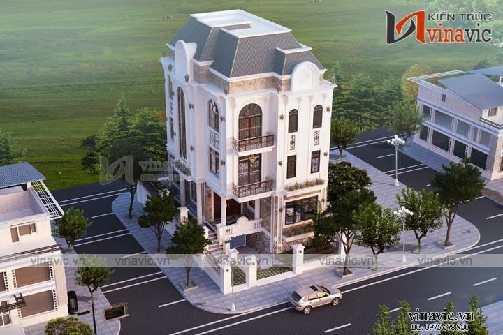 Mẫu nhà biệt thự 4 tầng phong cách tân cổ điển ở Phú Quốc- Kiên Giang BT1641
