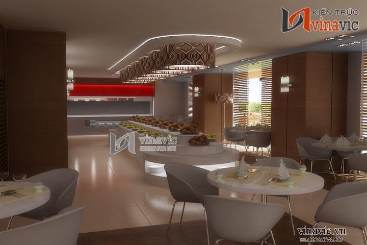 Mẫu thiết kế nhà hàng đẹp theo phong cách hiện đại NH03