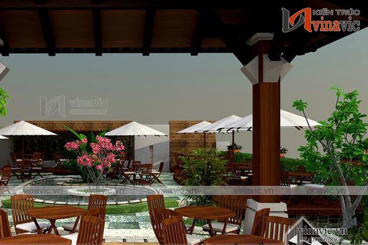 Mẫu thiết kế nhà hàng đẹp quấn hút mọi khách hàng NH08
