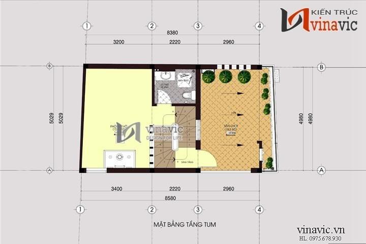 Thiết kế nhà ống 4 tầng hiện đại tận dụng tối đa diện tích 5x9m NO1406