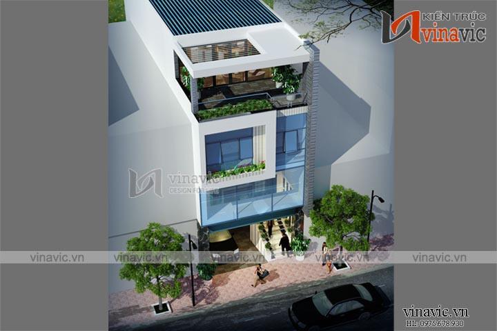 Mẫu nhà ống đẹp 5 tầng thiết kế hiện đại kết hợp kinh doanh NO1453
