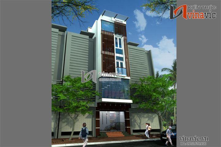 Mẫu thiết kế nhà ở văn phòng đẹp 6 tầng hiện đại thanh lịch NO1435