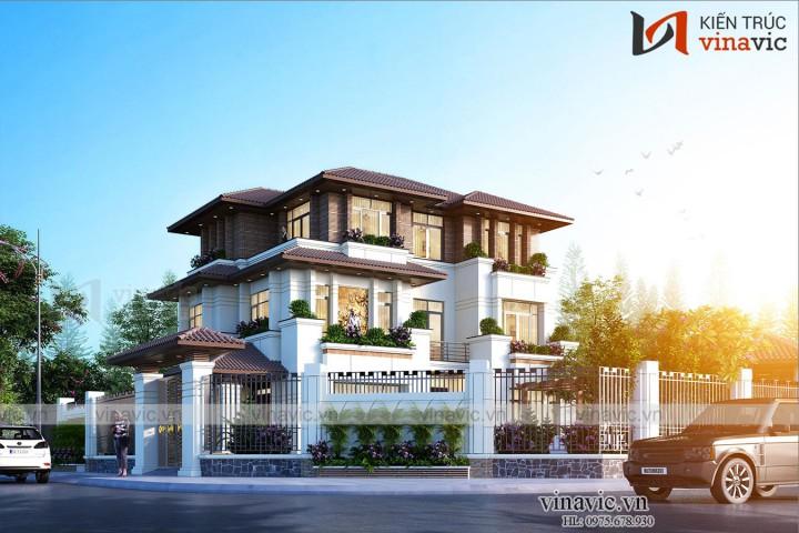Nhà hiện đại 3 tầng 150m2 mặt tiền 12m ở Gia Lâm Hà Nội BT2010