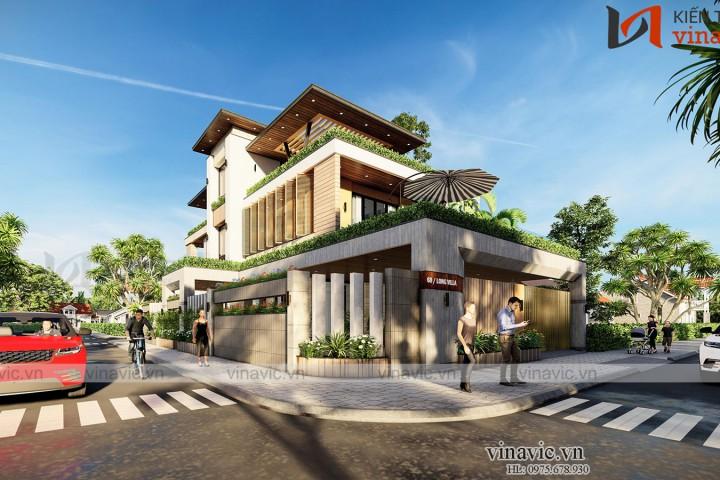 Thiết kế nhà hiện đại 3 tầng 170m2/sàn ở Quảng Bình BT2009