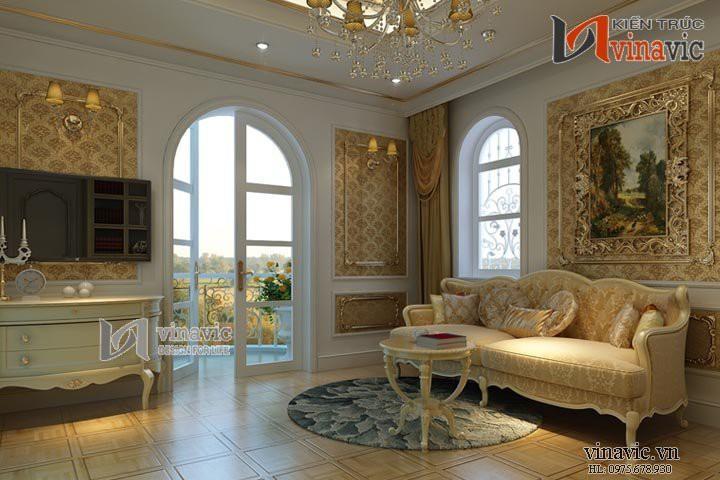 Nội thất phong cách hoàng gia biệt thự cổ điển NTB1409