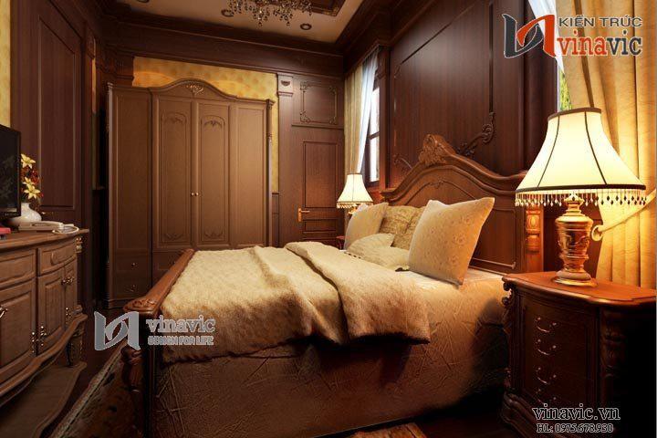 Ngắm nhìn nội thất đẳng cấp biệt thự cổ điển NTB1405