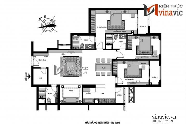 Nội thất chung cư NTC1405