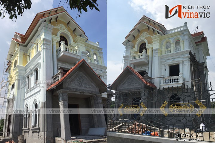 Thi công trọn gói biệt thự cổ điển đẳng cấp TCBT1652