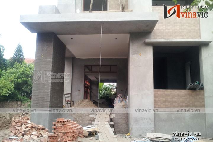 Hoàn thiện công trình biệt thự 2 tầng phân diện mạnh mẽ TCBT1620