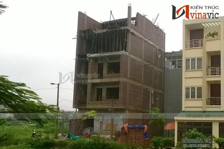 Xây dựng hoàn thiện công trình nhà phố 5 tầng TCNO1448