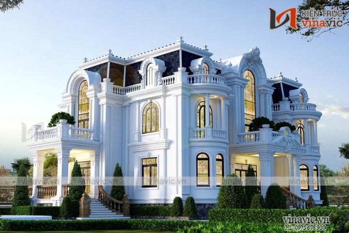 Thiết kế dinh thự độc đáo lạ mắt nhất Việt Nam LDDT1904