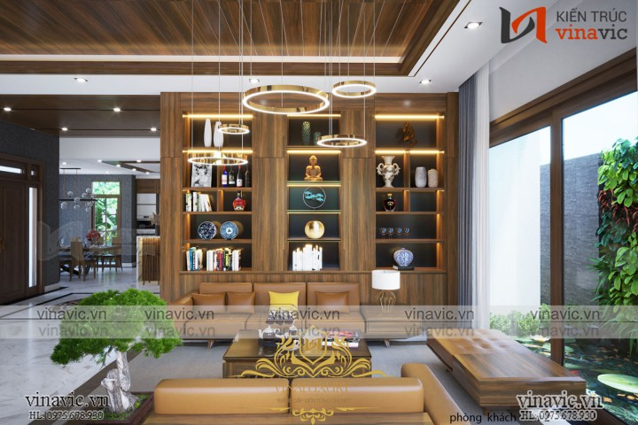 Thiết kế nội thất phong cách hiện đại sang trọng cho biệt thự ở Yên Bái NT2016