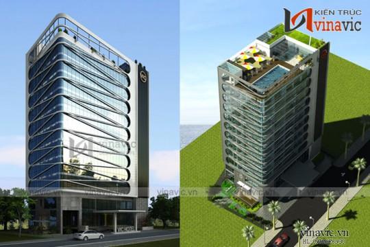 Thiết kế khách sạn hiện đại tiêu chuẩn 4 sao tại Vĩnh Phúc KSVP17