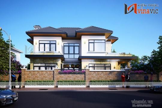 Biệt thự 2 tầng 100m2 3 phòng ngủ thiết kế hiện đại ở Phú Thọ BT1668