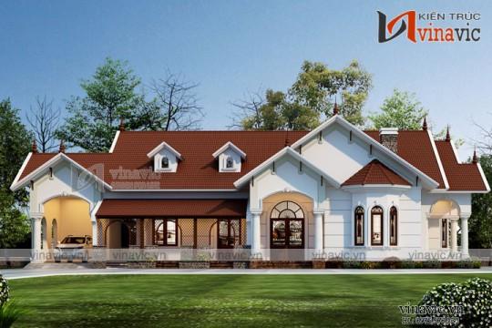 Mẫu thiết kế nhà cấp 4  gần gũi thiên nhiên 1 tầng BT1822