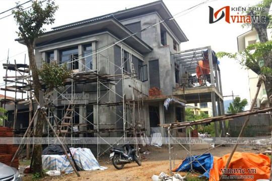 Hoàn thiện công trình biệt thự 3 tầng cuốn hút TCBT1685