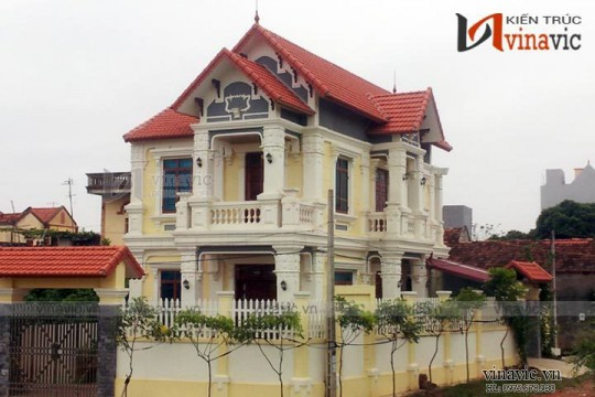 Xây nhà biệt thự đẹp 2 tầng tại Ứng Hòa - Hà Nội TCBT1600