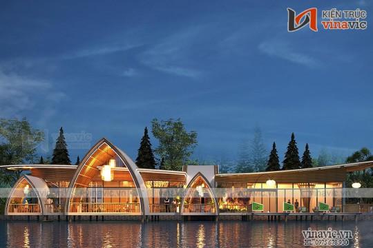 Thiết kế nhà hàng+ cafe + Sân Tập Golf  Dự Án SunSet ở Hòa Bình