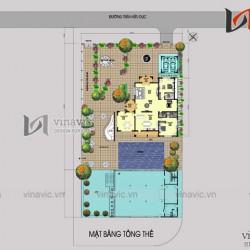 Biệt thự 2 mặt tiền 3 tầng 400m2 thiết kế sang trọng và hiện đại BT1496