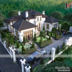 Biệt thự 1 tầng 500m2 phong cách địa trung hải ở Thanh Hóa BT2012