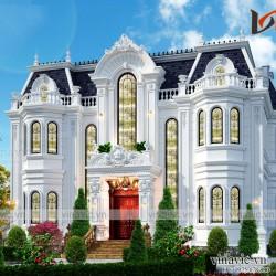 Biệt thự dinh thự cổ điển 3 tầng 500m2 ở Đông Anh Hà Nội BT2001