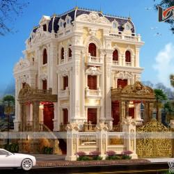 Lâu đài đẹp như cung điện thiết kế sa hoa lộng lẫy LDDT1907