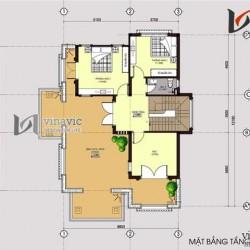 Mẫu nhà 2 tầng 4 phòng ngủ mặt tiền 9m sân trước và ban công rộng BT1490