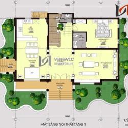 Bản vẽ thiết kế biệt thự 3 tầng cổ điển đẹp đẳng cấp BTCC1410
