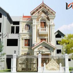 Biệt thự kiểu Pháp cổ 3 tầng mặt tiền 8m mức đầu khoảng 2.5 tỷ BT1658