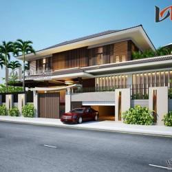 Thiết kế biệt thự cao cấp phong cách hiện đại 2 tầng BTCC1422