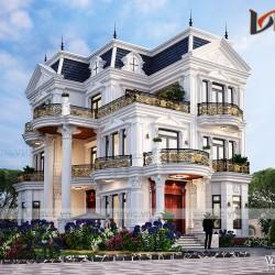 Mẫu biệt thự tân cổ điển 3 tầng kiểu Pháp đẹp lung linh BT2030