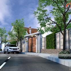 Mẫu thiết kế biệt thự 1 tầng mái thái hiện đại BT1691