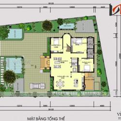 Mẫu thiết kế biệt thự 1.5 tầng tổ hợp mái thái ấn tượng ở Hải Phòng BT1694