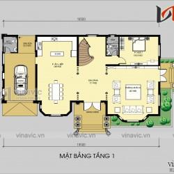 Mẫu thiết kế biệt thự 2 tầng tân cổ kiểu pháp đẹp BT1803
