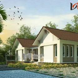 Mẫu nhà hình chữ u diện tích 12x10m 1 tầng ở Lương Sơn- Hòa Bình BT1436