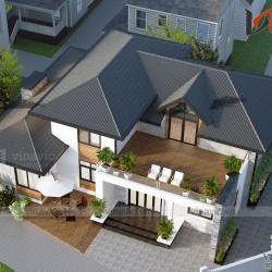 Mẫu thiết kế biệt thự đẹp hiện đại gần gũi thiên nhiên BT1823