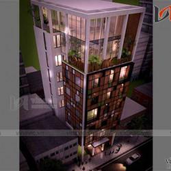 Mẫu thiết kế khách sạn văn phòng đẹp KSVP05