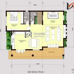 Mẫu biệt thự nhà vườn 2 tầng hiện đại sân vườn rộng mặt tiền 15m BT1455